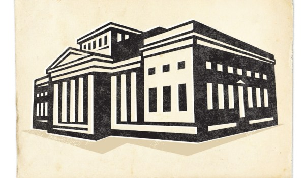 Manchester Art Gallery retro style print