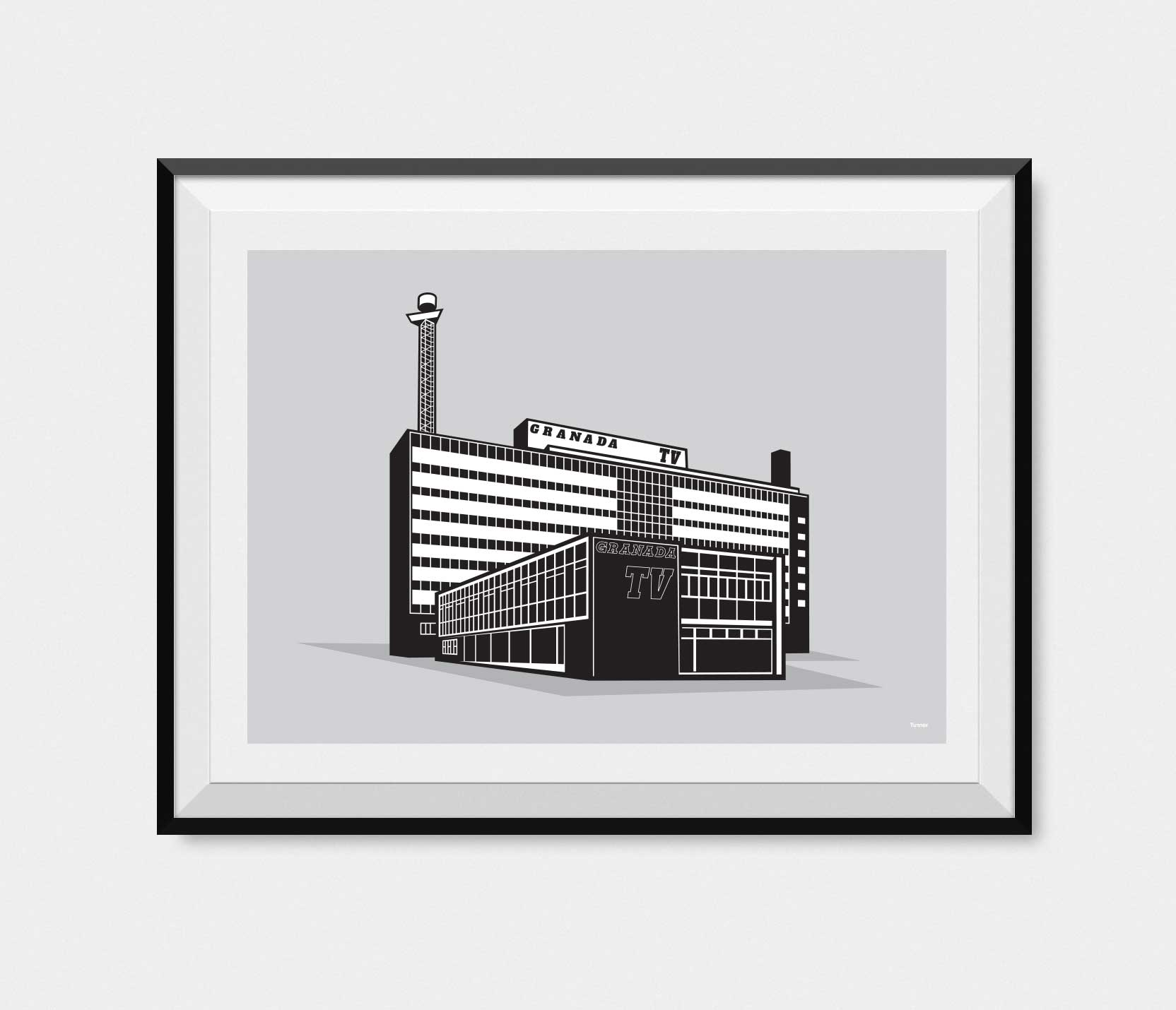manchester art gallery framed illustration