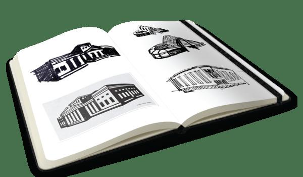look inside my sketchbook of subtractionism