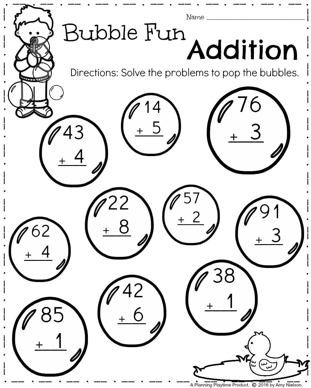 1st Grade Double Digit Addition And Subtraction Worksheets