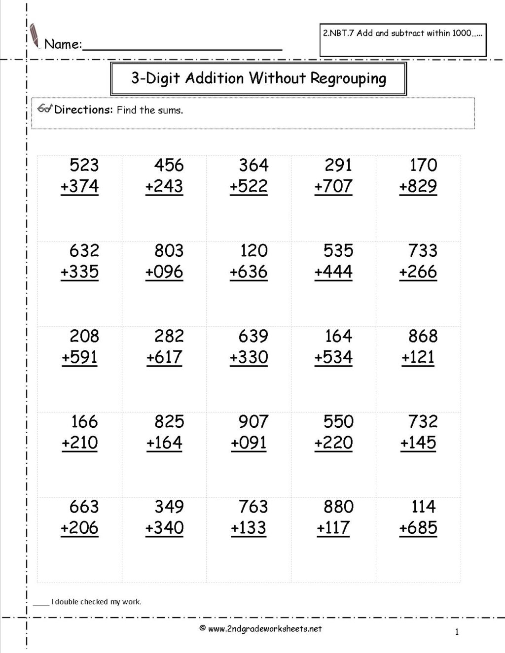 hight resolution of Simple Addition And Subtraction Worksheets For Second Grade   Worksheets  Free Download