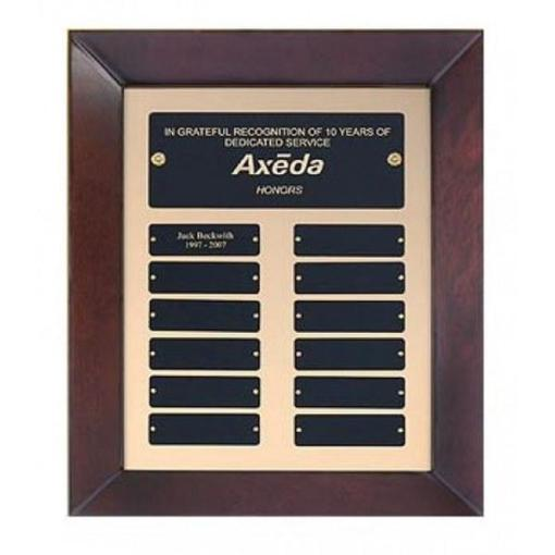 12 Plate Framed Perpetual Plaque