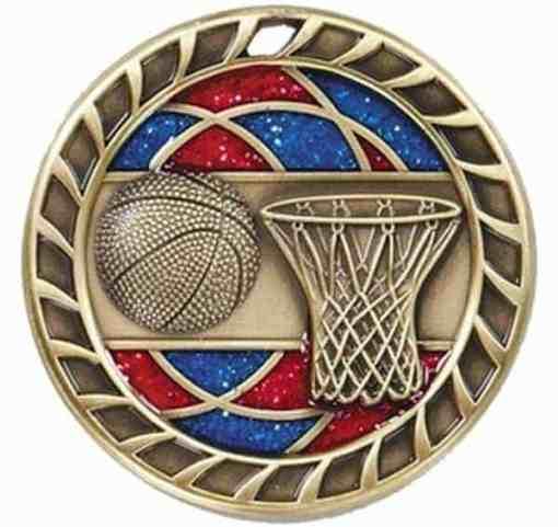 """2-1/4"""" Glitter Basketball Medal"""