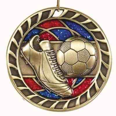 """2-1/4"""" Glitter Soccer Medal"""