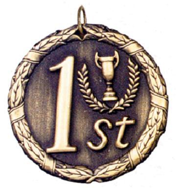 "2"" First Place Medal"