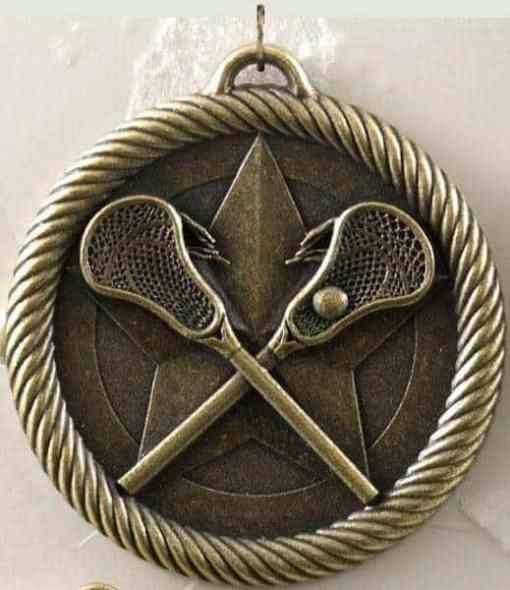 "2"" Lacrosse Medal - Gold"