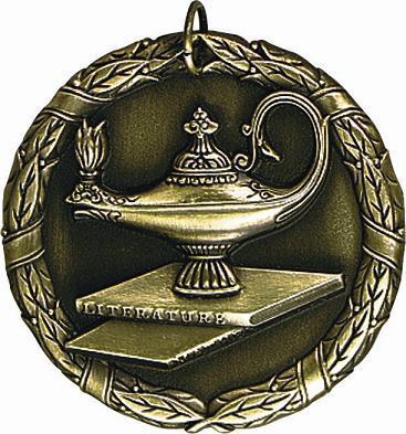 "2"" Lamp of Learning Medal"