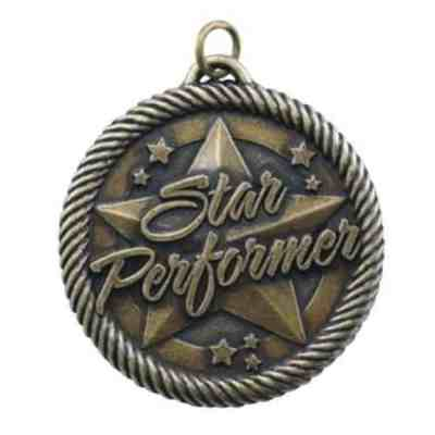 "2"" Star Performer Medal"