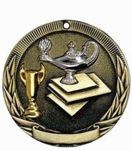 "2"" Tri-Color Lamp of Learning Medal"