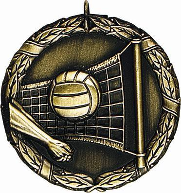 "2"" Volleyball Medal"