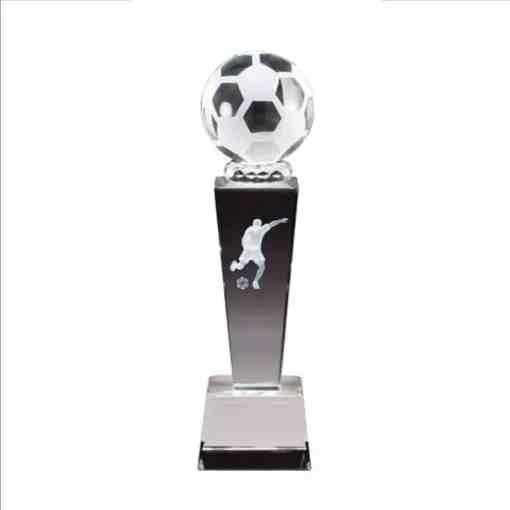3-D Soccer Crystal