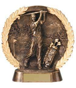 3-D Plate Men's Golf Trophy