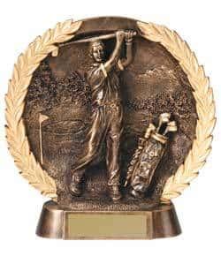 3-D Plate Men's Golf Trophy