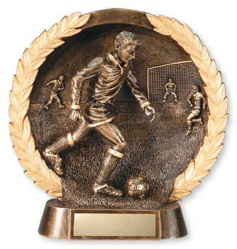 3-D Plate Men's Soccer Trophy