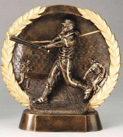 3-D Plate Women's Softball Trophy