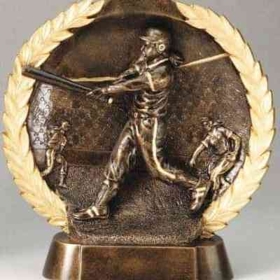 3-D Plate Women's Softball Trophy
