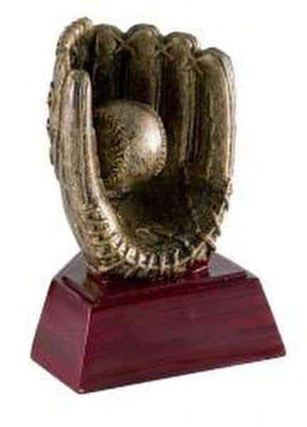 """4"""" Baseball Glove on Roswood Base"""