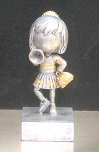 "5 1/2"" Cheerleader Bobblehead Trophy"