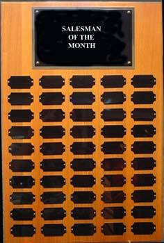 50 Plate Solid Walnut Perpetual Plaque