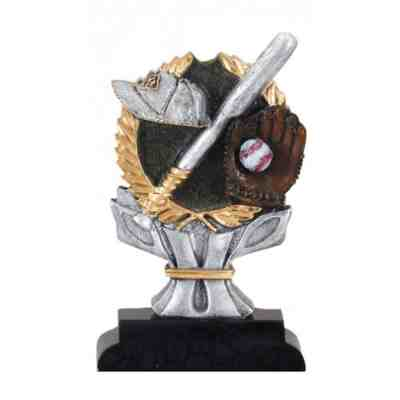 4 Color Baseball Trophy