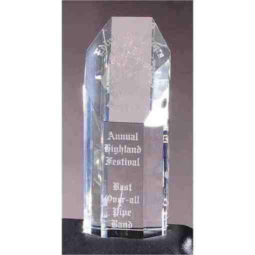 "8"" Octagon Tower Glass Award"