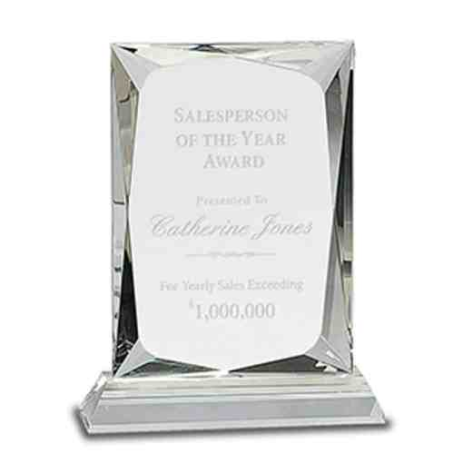Crystal Faceted Rectangle Award