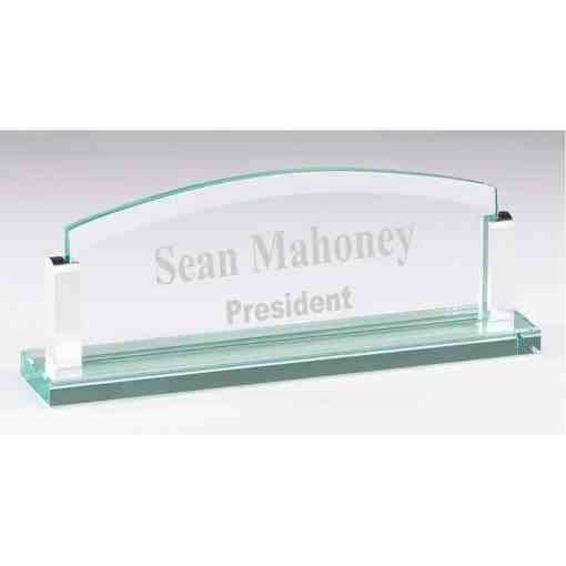 Glass Desk Name Plate