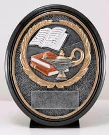 Academic Resin Oval Trophy