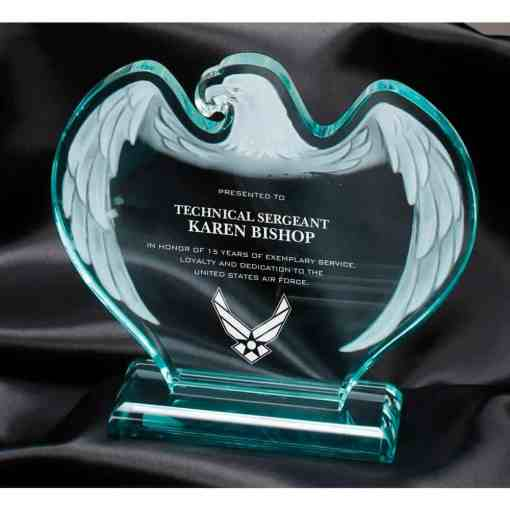 Jade Acrylic Eagle Award