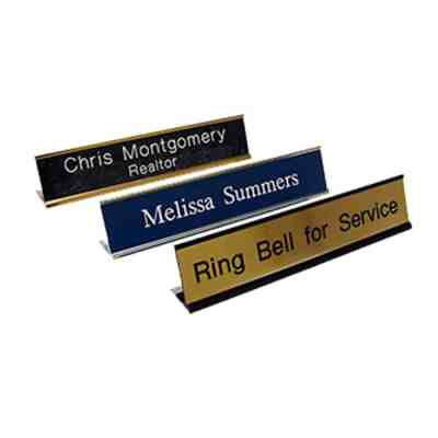 aluminum desk name plates