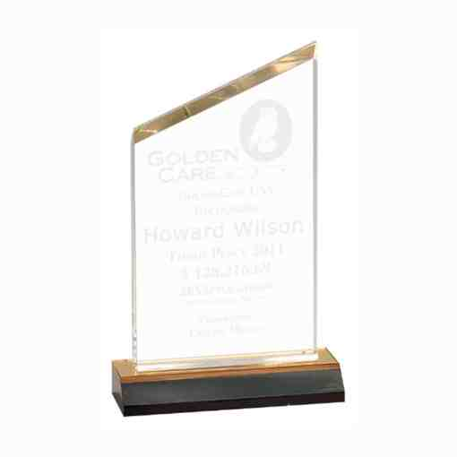 beveled peak acrylic award