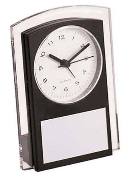 Black Promotional Clock