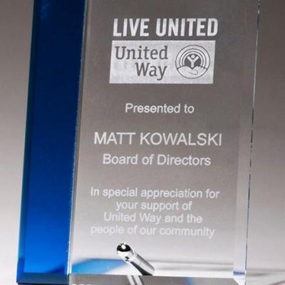 Blue Highlight Glass Award