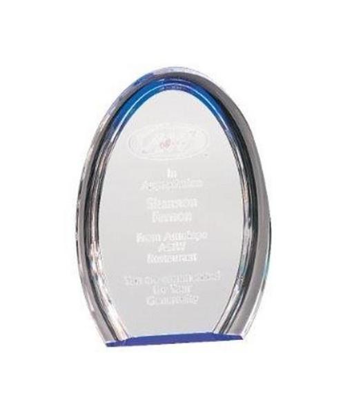 Blue Oval Acrylic Award
