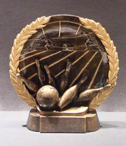 Bowling 3-D Plate Trophy