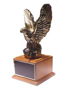 Bronze Eagle Award on Walnut Base