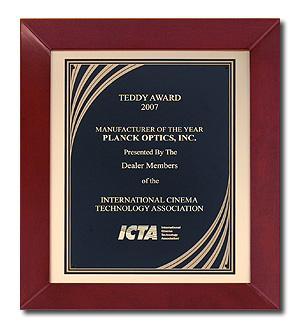 Cherry Frame Plaque Award