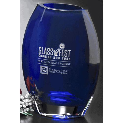 Cobalt Crystal Vase