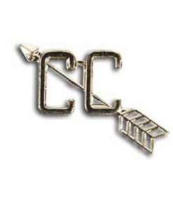 Cross Country Running Lapel Pin