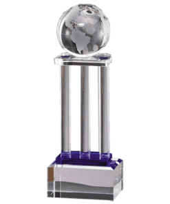 Crystal Globe on Pillars Award