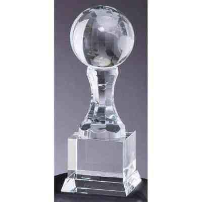 Crystal Globe on Upright Trophy