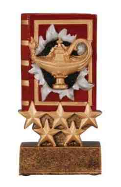 Five Star Lamp of Knowledge Trophy