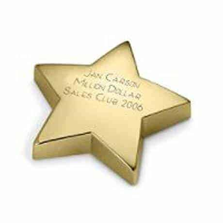 Gold Star Paperweight Award