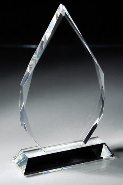 Optic Crystal Teardrop Award