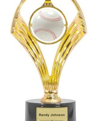 Swinging Baseball Trophy