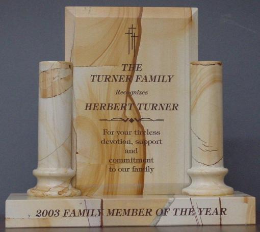 Teak Marble Pillar Award