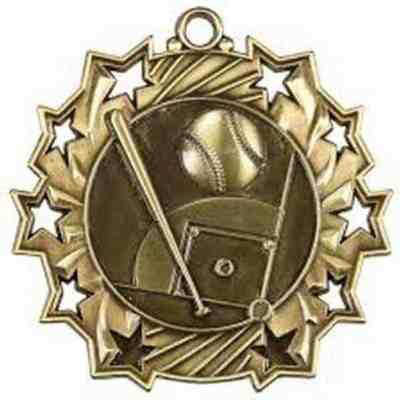 Ten Star Baseball Medal