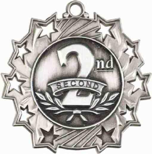 Ten Star Second Prize Medal