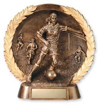 Women's Soccer 3-D Plate Trophy