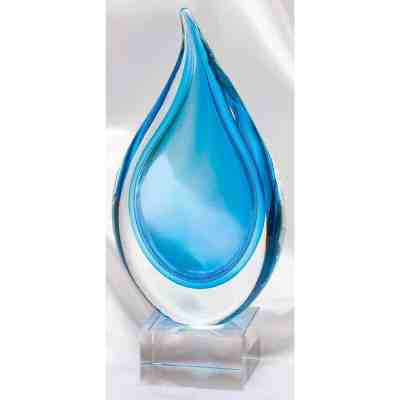 Blue Flame Crystal Glass Award